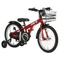 ジープ 18型 幼児用自転車 JEEP JE-18Gレッド/シングルシフト 34122