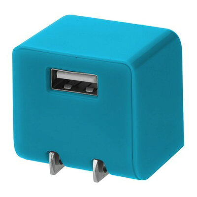 グリーンハウス AC充電器 1ポート 2.1A ブルー GH-ACU1D-BL(1コ入)