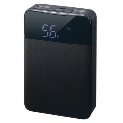 GREEN HOUSE モバイル充電器 10000mA GH-BTF100-BK