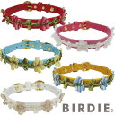 バーディ BIRDIE 808 BIRDIE バーディ 猫の革首輪 フローラルリボンカラー20サイズ レッド