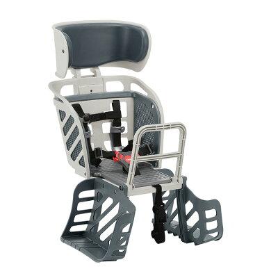 自転車用チャイルドシート ヘッドレスト付 後用  5点式ベルト RBC-009DXS グレー(1台)