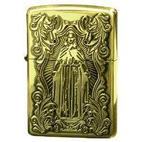 ZIPPOライター 63200598 ディープエッチング アラベスクマリア 真鍮いぶし