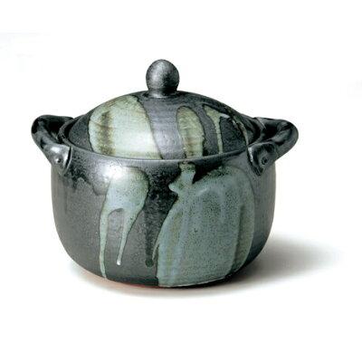 泰成窯  天目釉流しみそスープ鍋大