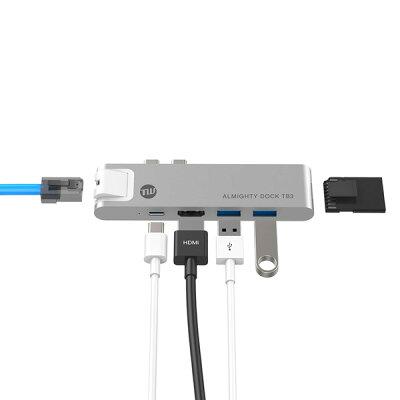 TUNEWEAR ALMIGHTY DOCK TB3 MacBook Pro/MacBookAir対応 USB-Cハブ TUN-OT-000048