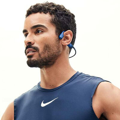 AFTERSHOKZ 骨伝導 Bluetooth5.0 ワイヤレス イヤホン AEROPEX BLUE ECLIPSE