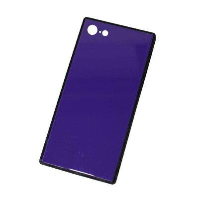 日本マース スマホケース スクエアタイプ ガラスハイブリッドスマートフォンケース iPhone8/7用 パープル AICG-HYB06PUSQ 1355150