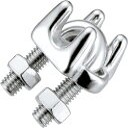 浅野金属工業 ワイヤークリップSUS316 サイズ:4