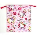サンリオ ハローキティHello Kitty 巾着S ローズピンク巾着袋 キャラクター