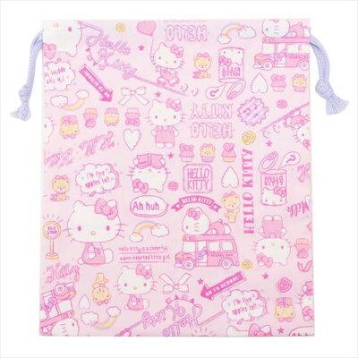 きんちゃくポーチs2019年新入学雑貨 ハローキティ 巾着袋 サンリオ 高波クリエイト