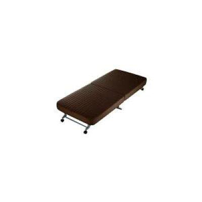ナイスデイ 洗える替えカバー式 折りたたみベッド サイズ:S 色:ブラウン