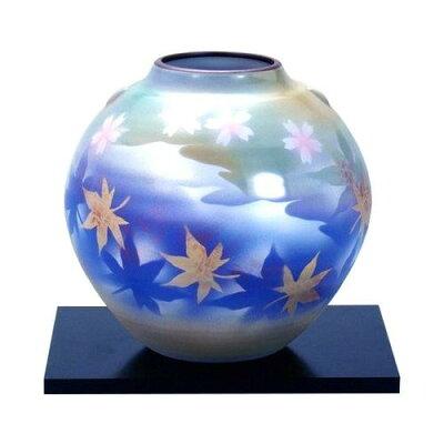 九谷焼 5.5号花瓶 春秋 N164-07