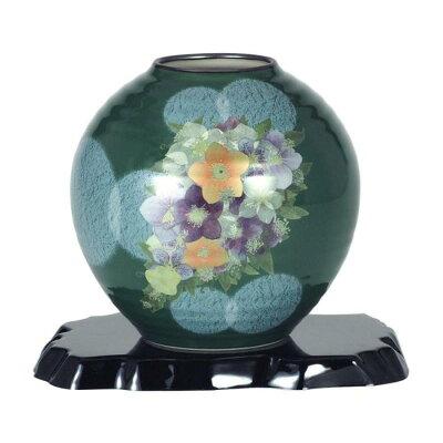 九谷焼 6号花瓶 オリベ花メルヘン N165-10