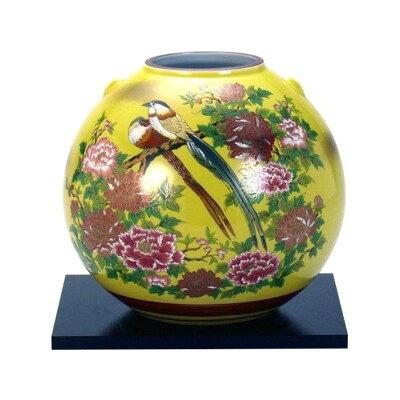 九谷焼 6号花瓶 三光鳥 N166-03
