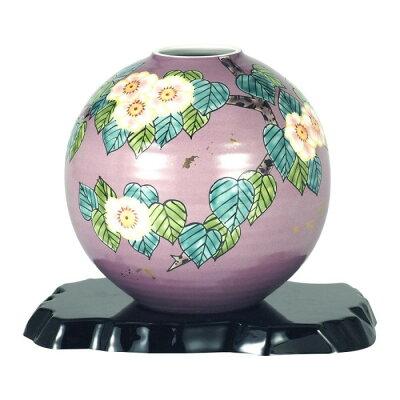 九谷焼 6号花瓶 花水木 N166-10