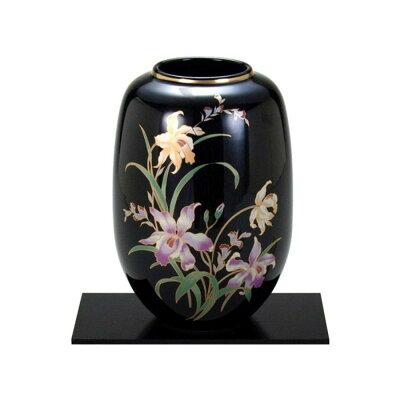 九谷焼 8号花瓶 天目カトレア N167-05