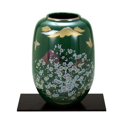 九谷焼 8号花瓶 オリベかすみ草 N167-07
