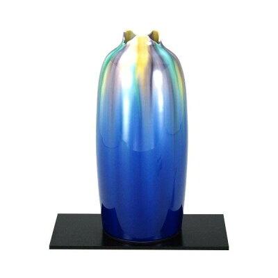 九谷焼 博峰作 9号花瓶 釉彩 N169-02