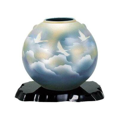九谷焼 吉臣作 7号花瓶 雲海鶴 N170-08