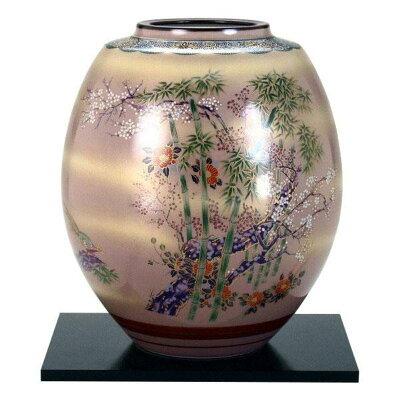 九谷焼 8号花瓶 竹雉 N173-09