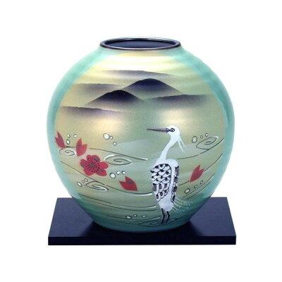 九谷焼 6号花瓶 白鷺 N165-11