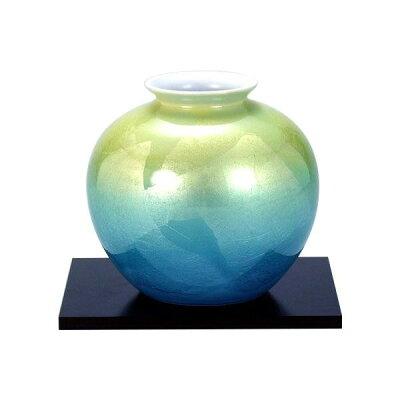 九谷焼 5号花瓶 二色銀彩 N165-12