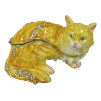置物 小物入れ BOXロングヘアーキャット ネコ 猫