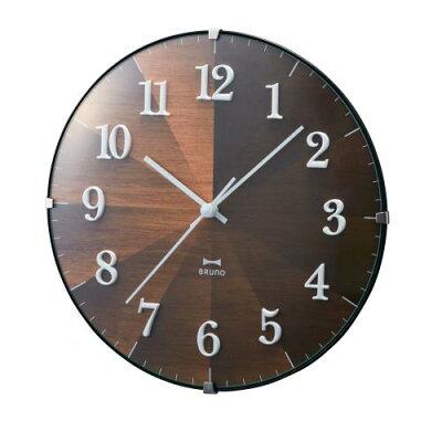 ブルーノ 2WAYグラデーションウッドクロック 掛け時計 掛時計