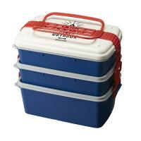 3段ランチボックス ワイド BHK109-WHBRUNO ホワイト・ライトブルー