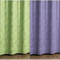 川島織物セルコン DRAPE ドレープカーテン 1枚 パール 100×185cm DF1045 G・グリーン 0119bs
