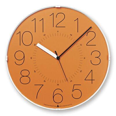 LEMNOS ( レムノス )掛け時計CARA(カラ)オレンジAWA13-08OR