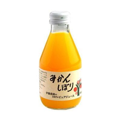 伊藤農園 100%ピュアジュース みかん 瓶 180ml