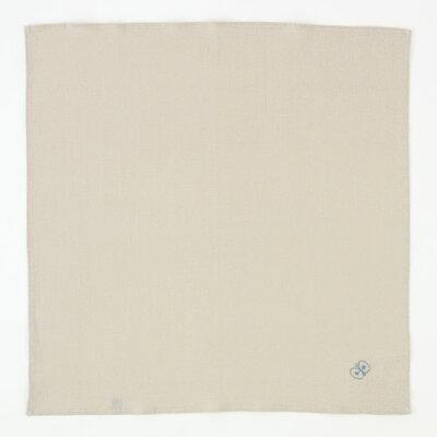 ミナ ペルホネン デザイナー皆川明 麻風呂敷 刺繍 ちょうちょ グレー ちょうむすびリネン