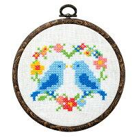 コスモ クロスステッチ刺繍キット No.9903 ぬりえみたいなクロスステッチ バード Cosmo Lucien ルシアン 青い鳥