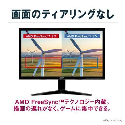 Acer 23.6型ワイド液晶ディスプレイ KG241Qbmiix 非光沢/ 1920x1080/ 1ms/ ブラック/ ミニD-Sub 15ピン・HDMI v1.4x 2/ スピーカー/ イヤホン端子