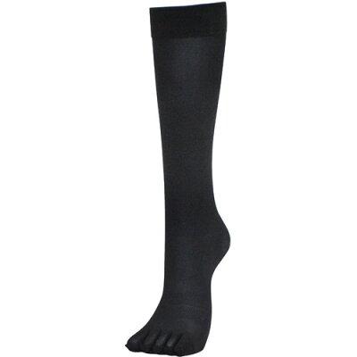 サポートファイブ 5本指ストッキング(膝下タイプ・ブラック)22-25cm