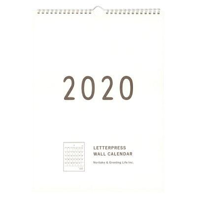 グリーティングライフ Noritake 2020年 壁掛けカレンダー C-1135-NT