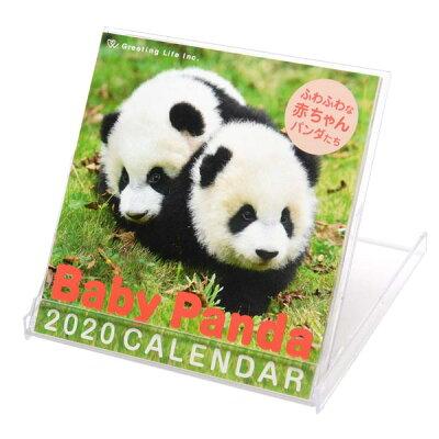 グリーティングライフ カレンダー 2020 卓上 プラスチックケース入 ベビーパンダ C-1171-PA