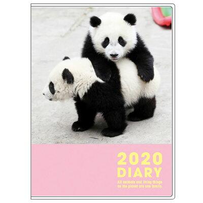 グリーティングライフ 2020年版 A6ダイアリー マンスリータイプ パンダ CD-877-PA