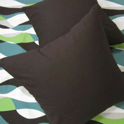 カラーオックス クッションカバー ブラウン 50cm×50cm