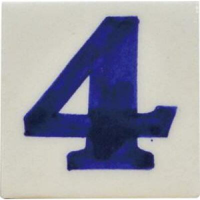 ブルーポタリー ナンバータイル 5×5 WHITE