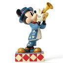 ディズニー トラディション トランペット奏者のミッキーマウス レジン製木彫り調フィギュア