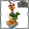 ディズニー 木彫り調フィギュア ドナルドダック シュノーケルと浮輪で水遊び ディズニートラディション