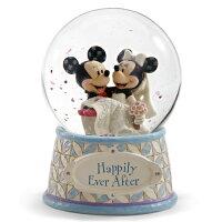 ディズニー スノードーム ミッキーマウス ミニーマウス ウォーターグローブ 120mm