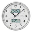 SEIKO 電波掛時計 カレンダー付 直径350×45 P枠 白パール