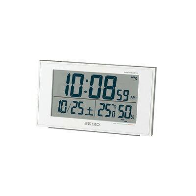 セイコー 電波目覚まし時計 SQ758W(1台)