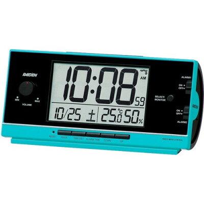 セイコー電波目覚まし時計 NR534L 青