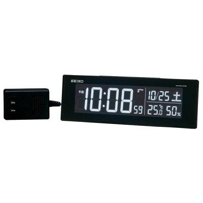 セイコー 交流式デジタル電波目ざまし時計 カラーLED表示 DL305K