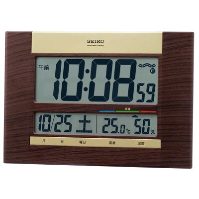 セイコー セイコー電波掛け時計 SQ440B 茶木目