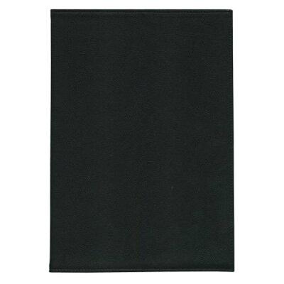 スリップオン B5サイズ ノートカバー 合皮製 ブラック WDS-2001 BK