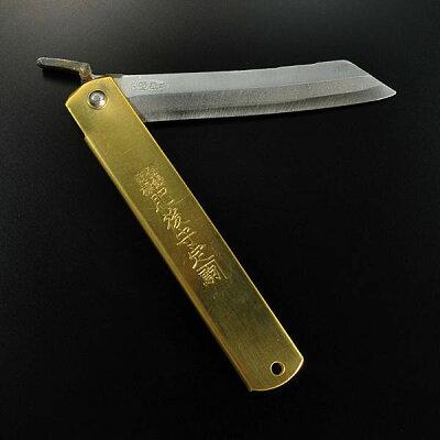 永尾駒製作所:昔なつかしいナイフ 肥後の守 青紙割り込み 特大 - 永尾駒製作所